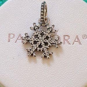 Pandora Winter KISS Snowflake Charm